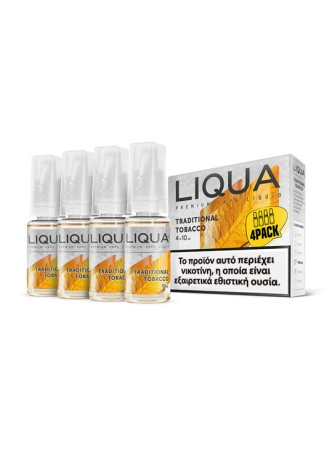 LIQUA TRADITIONAL TOBACCO 4X10ML
